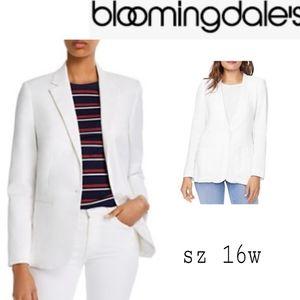 Bloomingdale's white cotton blazer. Sz 16